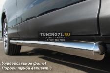 HONDA CR-V Пороги труба d63 (вариант 3) HCT-0001903